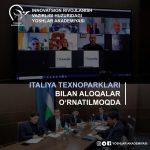 Italiya texnoparklari bilan aloqalar oʻrnatilmoqda
